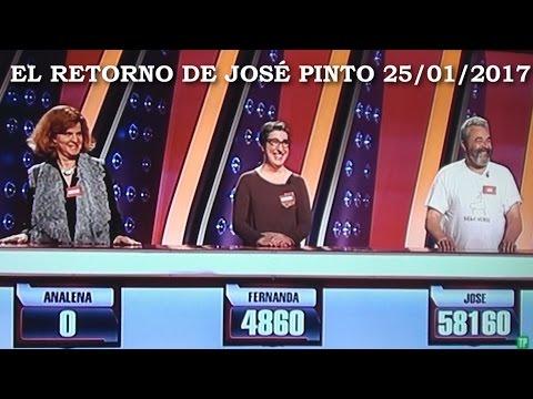 El retorno de José Pinto Saber y Ganar 25 01 2017