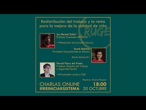 Charla on line organizada por RUGE: Redistribución del trabajo