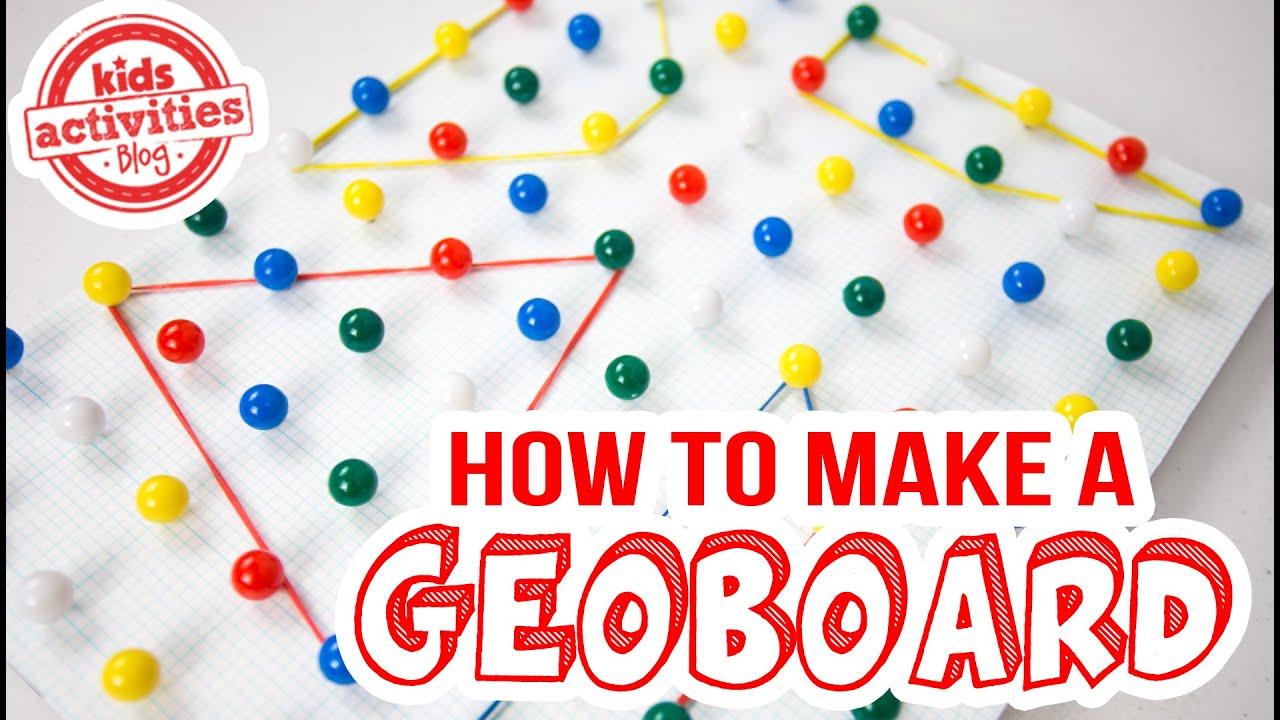 【ジオボードの作り方】数学力や視覚イメージ力を高める知育おもちゃ