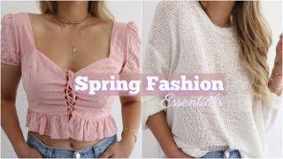 Spring Fashion Essentials // Try-On