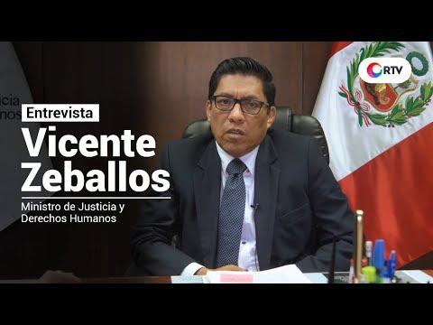 Entrevista Vicente Zeballos, Ministro de Justicia