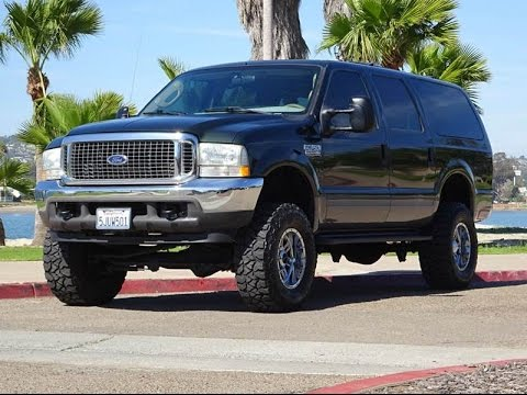 Ford Excursion Xlt Xlsel Lifted K Miles Clean Title  Owner California Walk Around