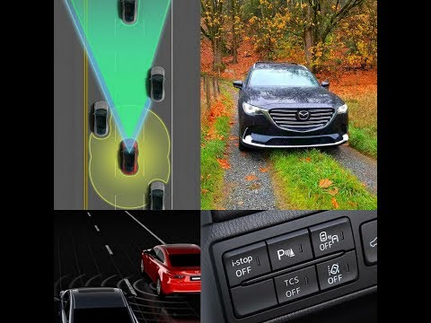 2018 Cx 9 GT i ACTIVSENSE Safety Technology Overview Mazda MRCC BSM LDWS
