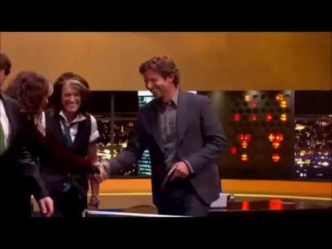 Steven Tyler Joe Perry Playing Table Tennis (The Jonathan Ross Show)