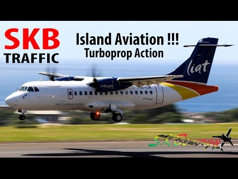 Turboprop Action !!! Short 360, ATR 72-600, ATR 42-600, Dash 8-300, Saab 340 @ St Kitts !!!!