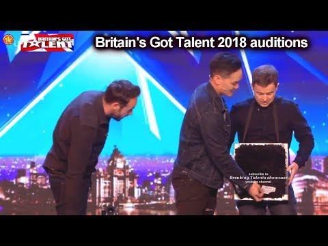 Andrew Lee Malaysian Magic Act Throws Knife at Dec Auditions Britain's Got Talent 2018 BGT S12E04