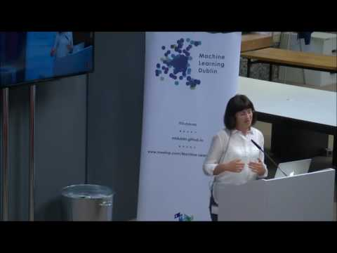Dr Annalina Caputo at Machine Learning Dublin Meet-up with Zalando