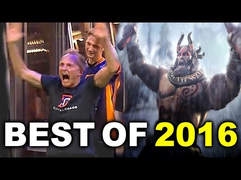 BEST OF 2016 - MOST EPIC HYPE MOMENTS DOTA 2