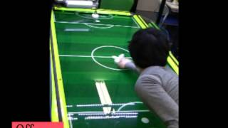 Air hockey robot defeats all humans!!