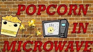 Как приготовить попкорн,,в микроволновке''/How to make popcorn in microwave...
