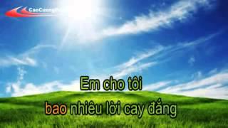 Hãy Cho Tôi Karaoke Nguyễn Hưng CaoCuongPro YouTube