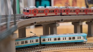 【鉄道模型】マイクロエース 神戸電鉄3000系走行動画