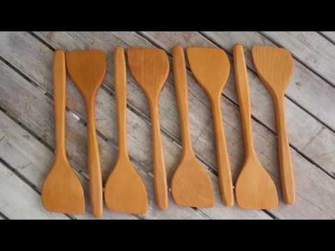 Making spatulas from reclaimed wood