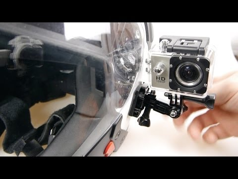 SJ4000 Action Cam on a Motorcycle Helmet (Riding Footage)