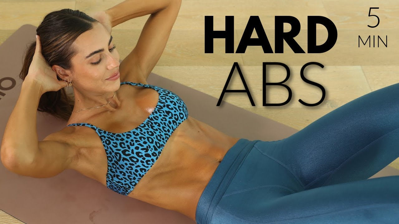 5 MIN Sexy Hard Abs // At Home Workout + No Equipment // Sami Clarke