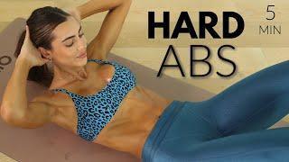 5 MIN Sexy Hard Abs // At Home Workout + No Equipment // Sami Clarke