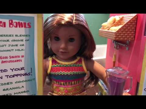 American Girl Doll Lea Clark, Sea Turtle, And Fruit Stand!
