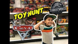 Toy Hunt New CARS 3 2018 toys, Jurassic World Fallen Kingdom toys