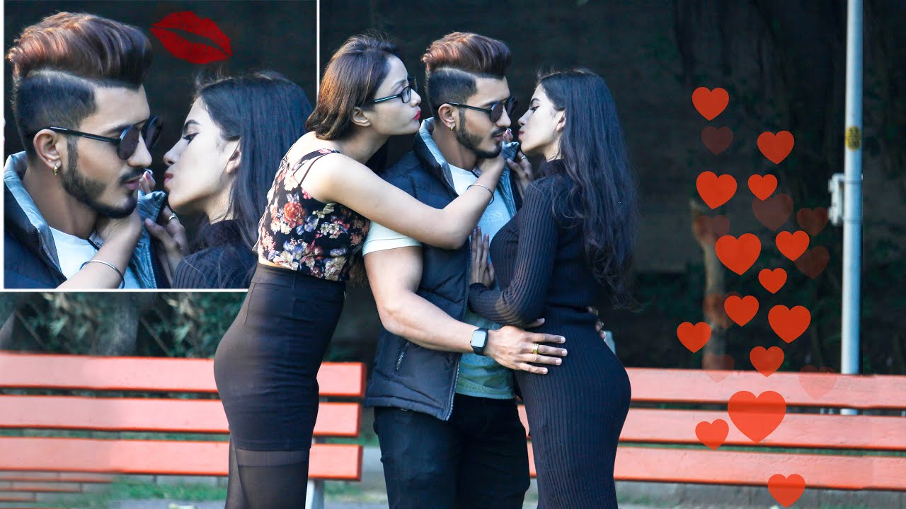 Getting Kissed By Two Girls At A Time || Sam Khan