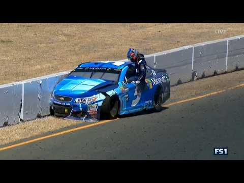Monster Energy NASCAR Cup Series 2017. Sonoma Raceway. Kasey Kahne Hard Crash