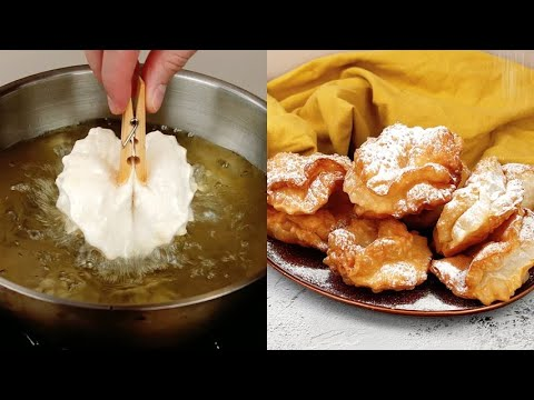 Rose pastry fritters really easy to prepare