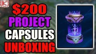 $200 UNBOXING PROJECT HUNTERS: HEXTECH CRATES | Project Capsules and Project Skin Orbs | League