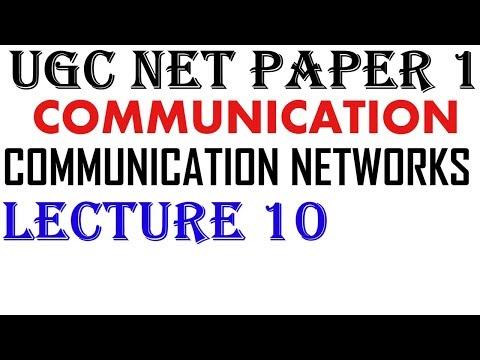Ugc Net - Communication Networks  Ll Communication Ll Lecture 10