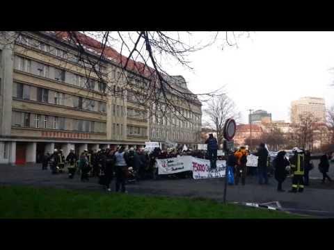 Demo der Feuerwehr Leipzig, 03.02.2014