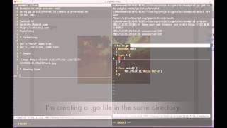 go present - create html slides with extractable, executable go code