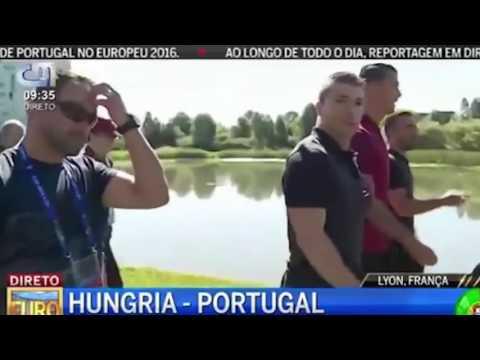 Cristiano Ronaldo marah dan lempar mic ke danau