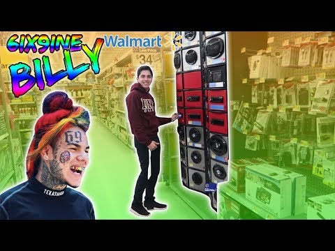 6IX9INE BILLY SPEAKER PRANK IN WALMART! DANCING