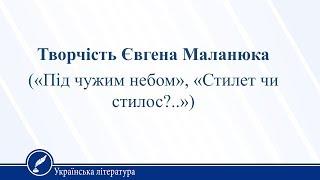 Урок 30. Українська література 11 клас