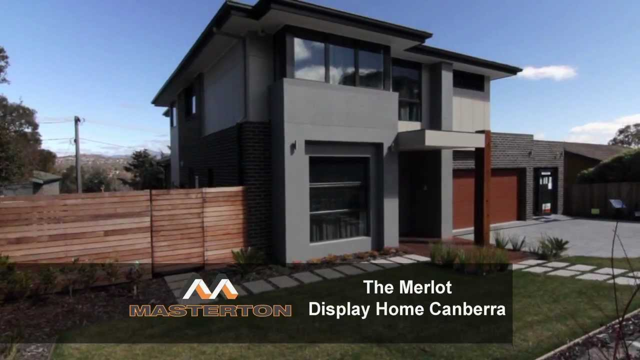 Masterton homes 39 merlot 39 display home canberra television for Home designs canberra