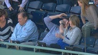 Red Sox fan justifies dropping foul ball