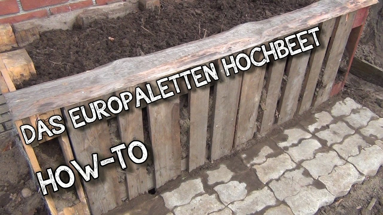 das europaletten hochbeet how to der aussteiger youtube. Black Bedroom Furniture Sets. Home Design Ideas