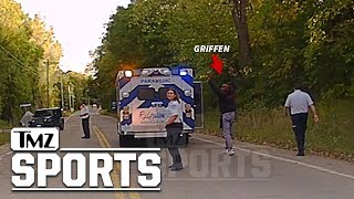 NFL's Everson Griffen Police Video After Ambulance Escape| TMZ Sports
