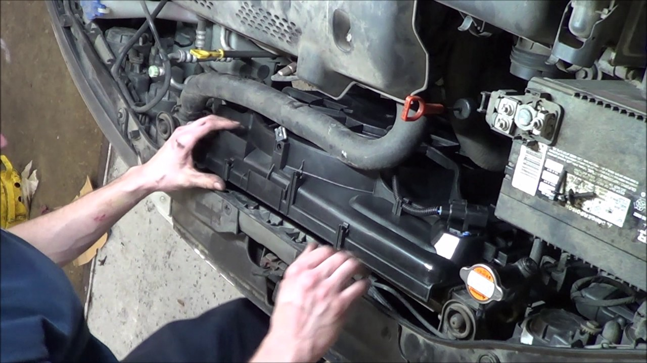 2010 Elantra Timing Belt Diagram Sheep Brain Dissection How To Replace Hyundai Radiator Fan - Youtube