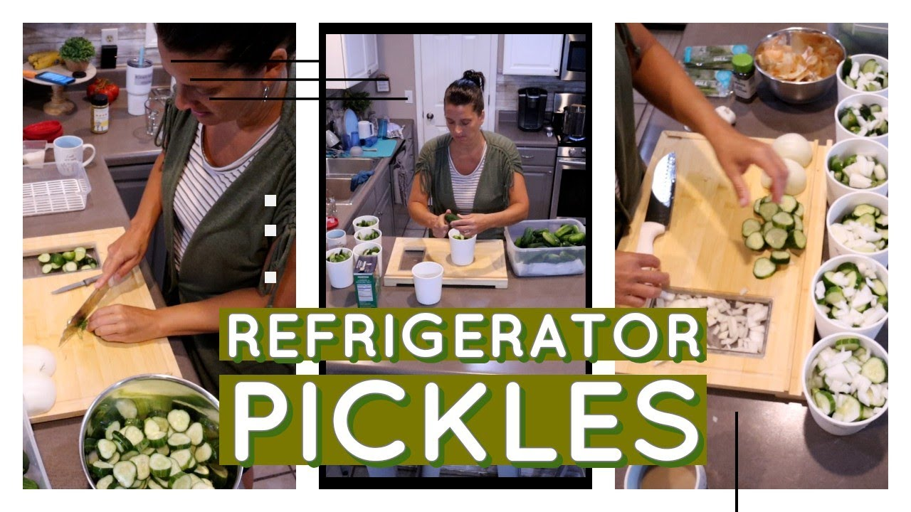 Refrigerated Pickles and Easy Summer Dinner