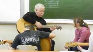 урок игры на гитаре. Имитация балалайки