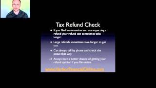Track Federal Income Tax Refund Check