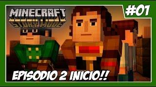 Minecraft: Story Mode - Episódio 2 - Parte #1 - EU SOU MAU!? A BOMBA PQP! - Legendado Em Português