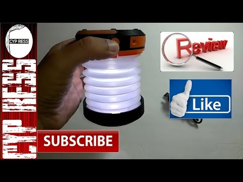 Best Solar & USB Rechargeable Collapsible LED Lantern? The Review Suaoki Solar Lantern