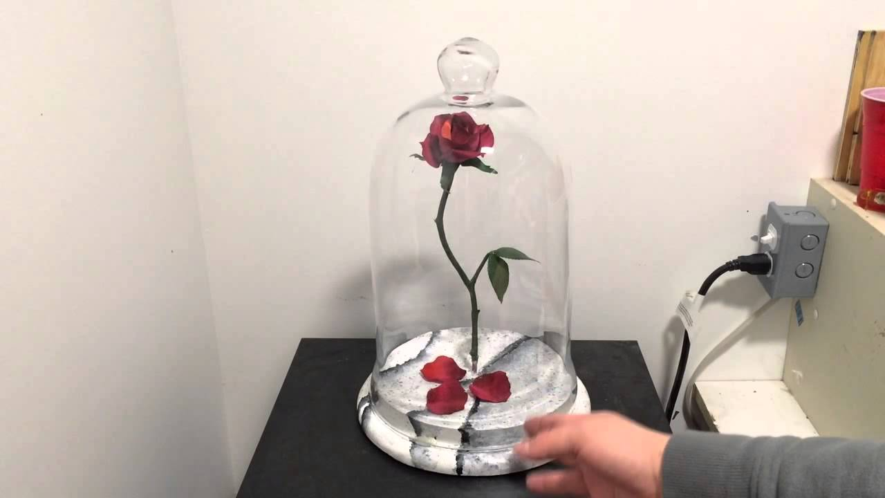 Disney S Beauty And The Beast Full Scale Rose Youtube