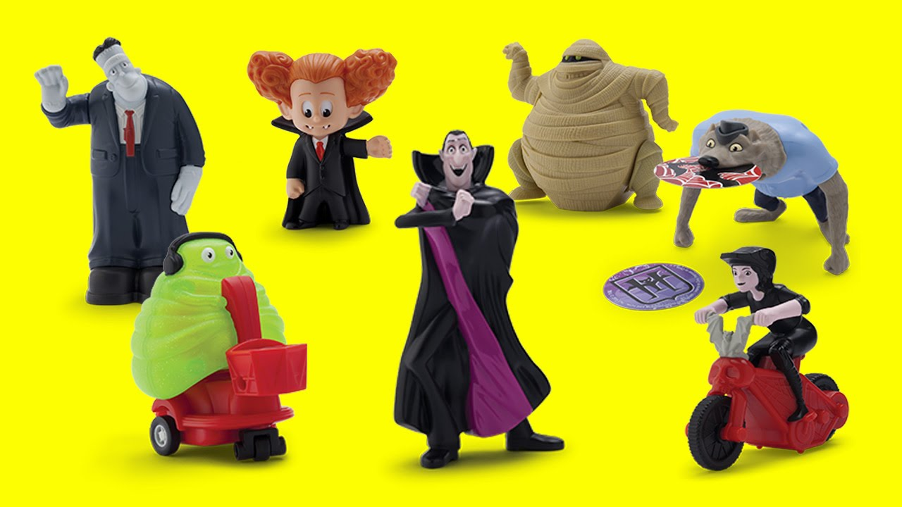 2015 hotel transylvania 2 movie mcdonalds happy meal full set of 7 toys youtube - Yellow Hotel 2015