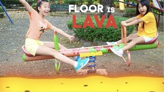 Floor is Lava at the park