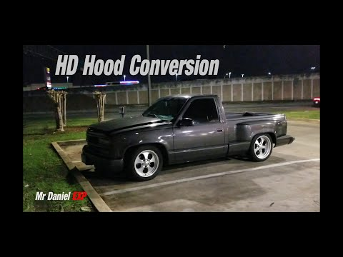 Super Clean Chevy Step Side Truck with rare Custom HD Hood Conversion