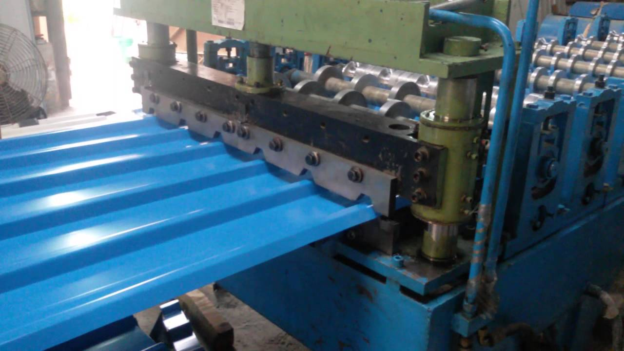 Colour coated sheets manufacturing process - Neeraj Enterprises Latest Sm Trapezoidal Color Coated Roof Rolling Machine 9818388747 9212779988