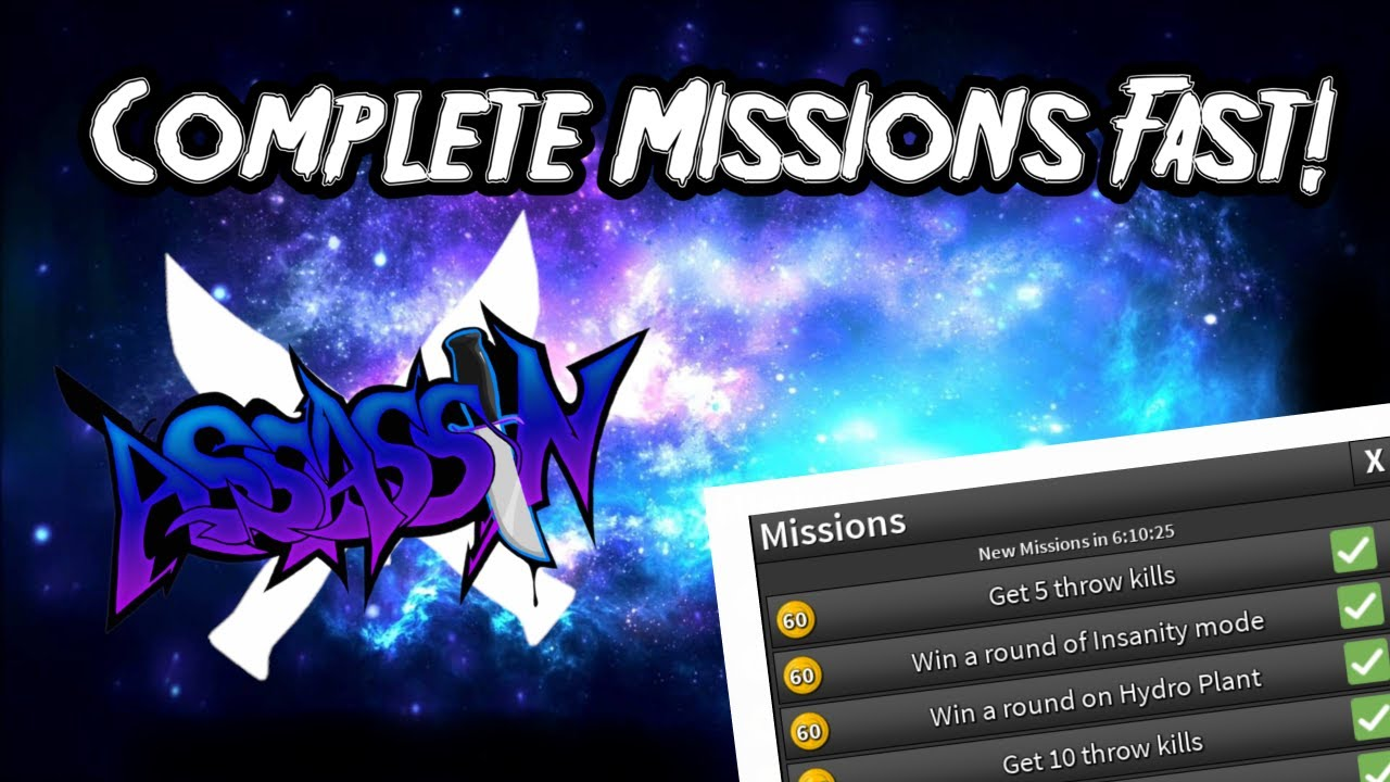 How To Complete Mission Fast In Roblox Assassin Youtube