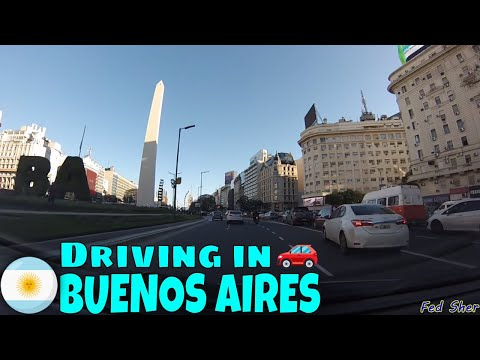 Driving in Buenos Aires (from Belgrano to La Boca)
