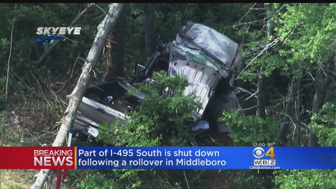 Serious Injuries Reported After Truck Leaves I-495, Slams Into Tree